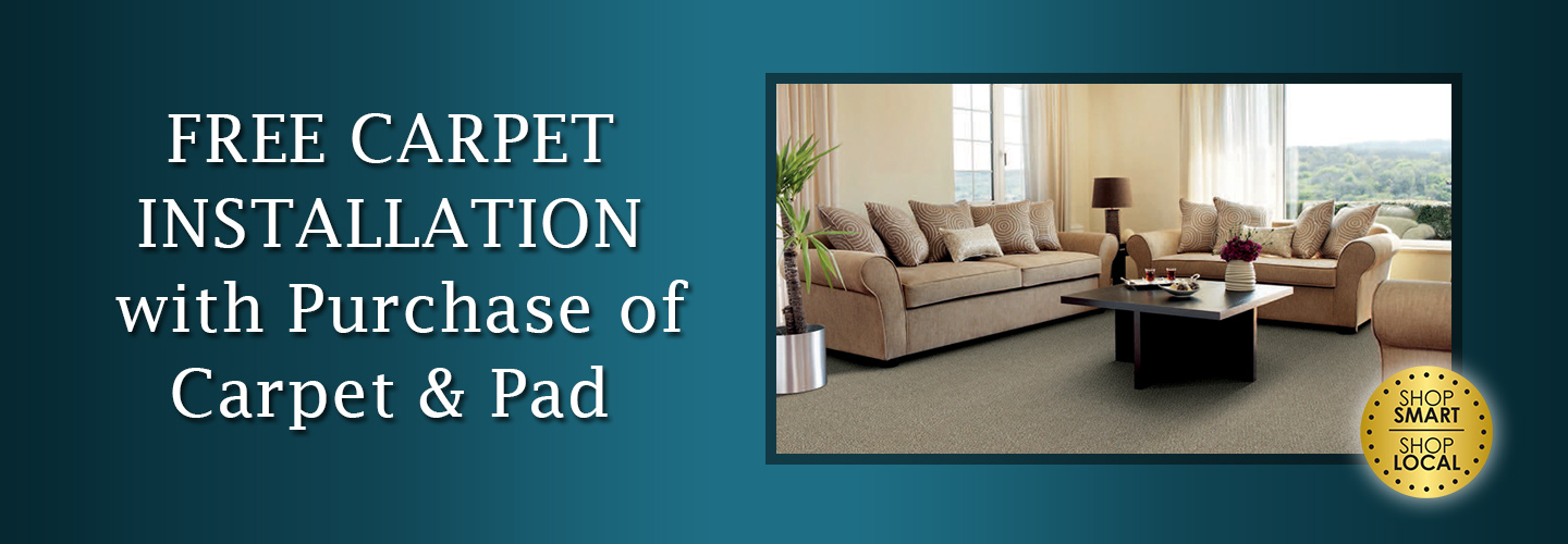 FREE CARPET INSTALLATION With Purchase Of Carpet ...