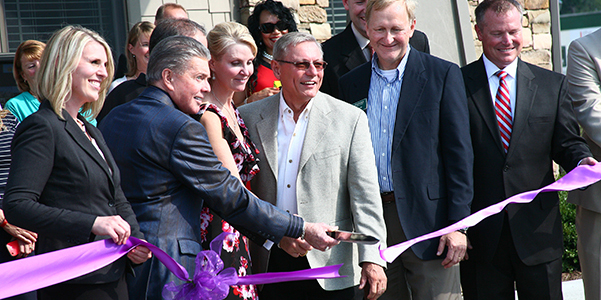 Ribbon Cutting Ceremony at the Grand Opening of Bridgewater Luxury Apartments. Justus Builders, Drexel Interiors.